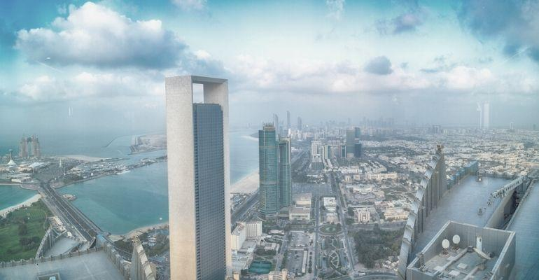 Abu Dhabi skyline..