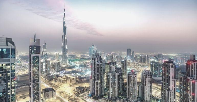 Dubai Skyline View