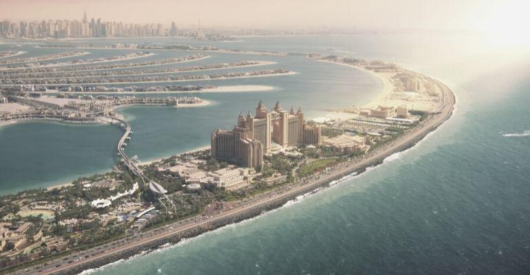 Dubai Tourism- Palm Dubai Aerial View