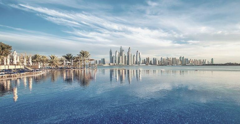 Dubai far view skyline