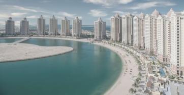 Pearl of Qatar aerial view
