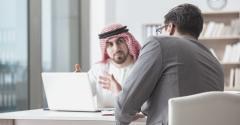 SaudiBusinessman with investor