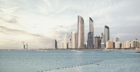AbuDhabi Sea and Skyline