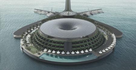 Floating eco luxury hotel Qata1